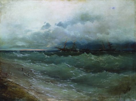 ships-in-the-stormy-sea-sunrise-1871